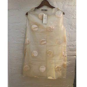 Silk Organza & Satin jacquard slvless mini dress